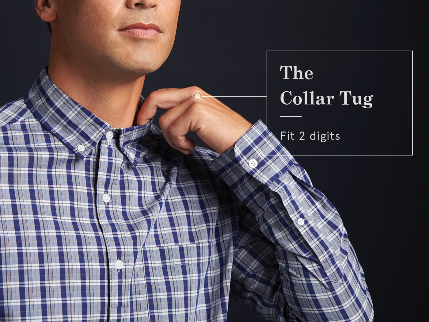 how to know if a dress shirt fits -can fit digits in the collar?