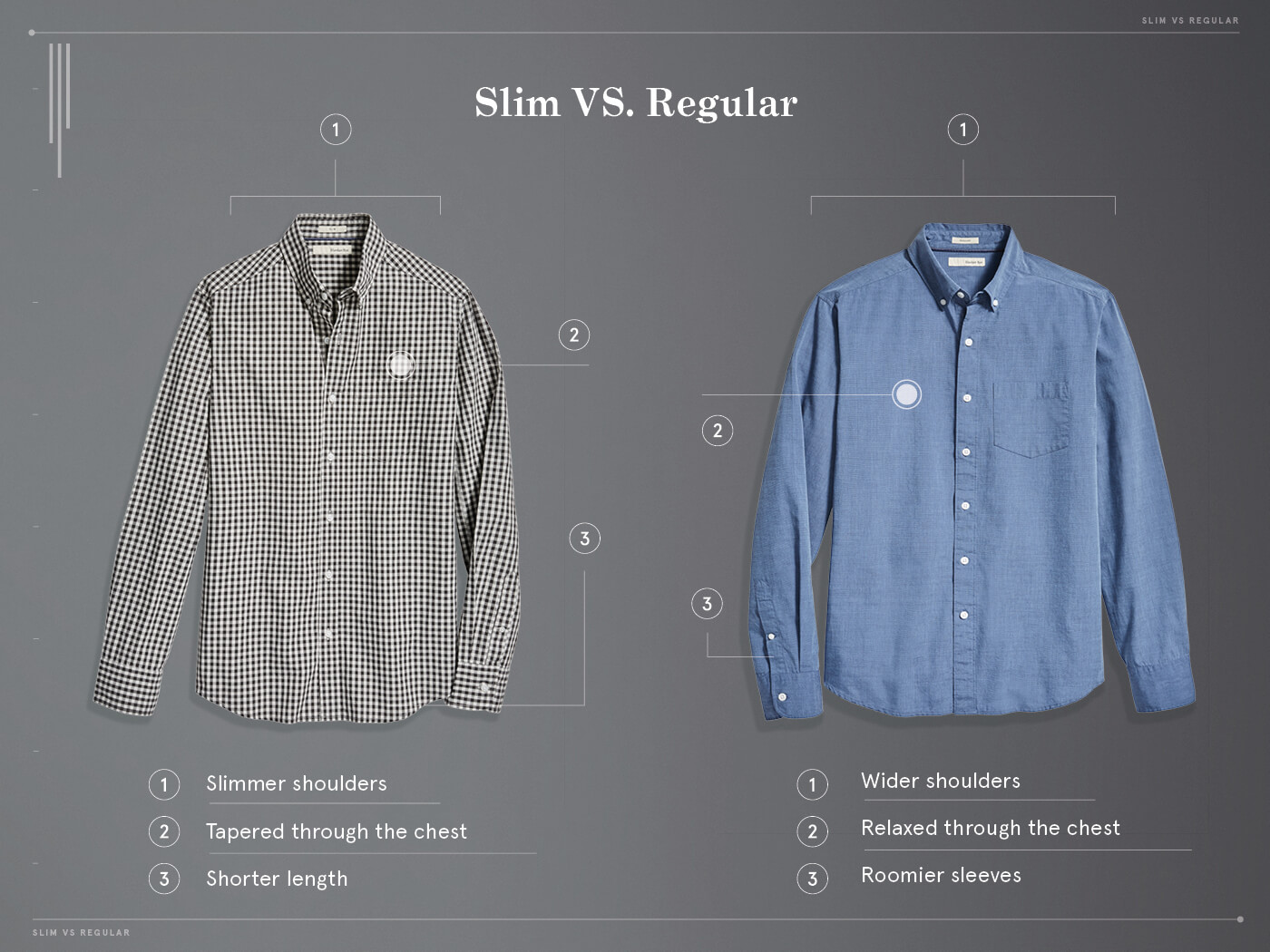 slim fit shirt vs regular shirt characteristics