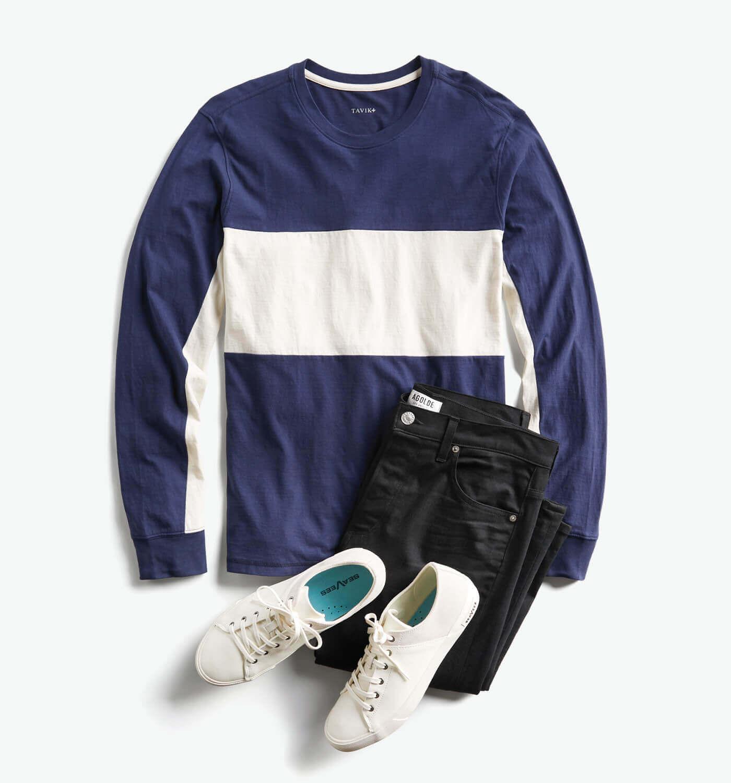 954ca616ad6 ... Black dress pants + black loafers + black and navy printed dress shirt