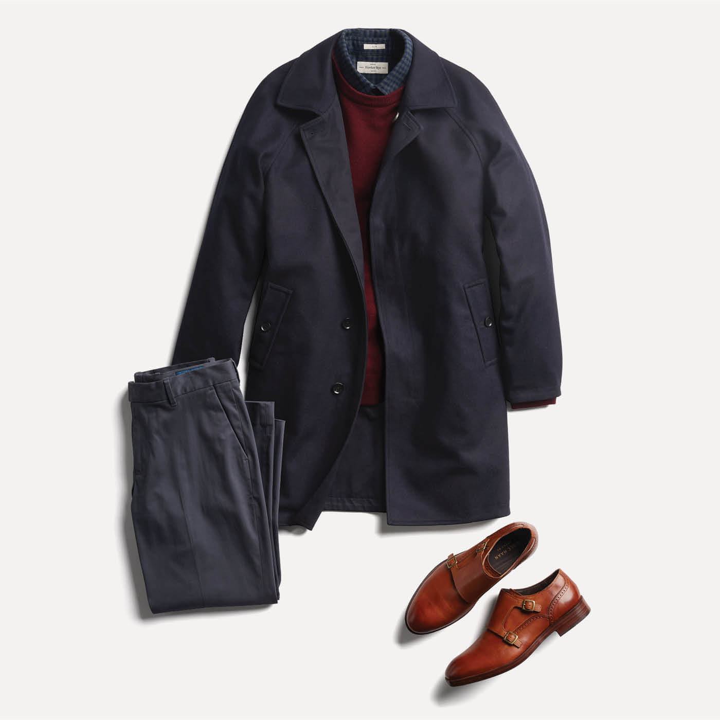 monkstraps with coat